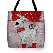 Reindeer Booties Tote Bag