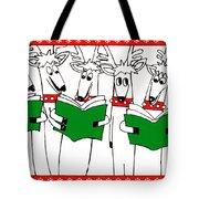 Reindeer Choir Tote Bag