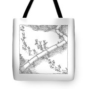 Reindeer In A Conga Line Do The Limbo Tote Bag