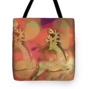 Reindeer On Parade Tote Bag