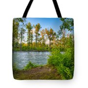 Relax By The Methow Rivers Edge Tote Bag