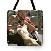 Relaxed Dog Grooming Barcelona Style Tote Bag
