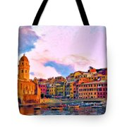Relaxing Around Vernazza Tote Bag