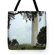 Relaxing By The Washington Monument Tote Bag