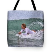 Relaxing In The Surf Tote Bag