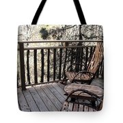 Relaxing In The Woods Tote Bag