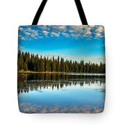Relaxing On The Lake Tote Bag