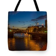 Relaxing On The River Tote Bag