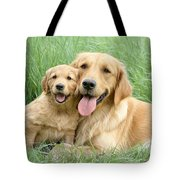Relaxing Retrievers Tote Bag