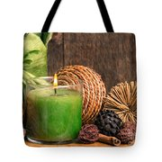 Relaxing Spa Candle Tote Bag