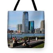 Relaxing Weekend On New York Harbor Tote Bag