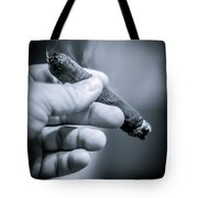 Relaxing With A Cigar Tote Bag
