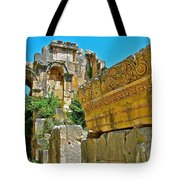 Relief In The Coutyard In Myra-turkey Tote Bag
