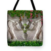 Relief Of African Elephants Tote Bag