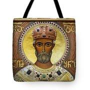Religious Art Inside The Tsminda Sameba Cathedral Tote Bag by Robert Preston