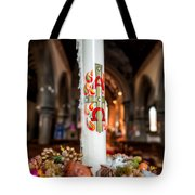 Religious Candle Tote Bag