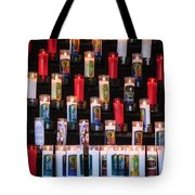 Religious Candles Tote Bag