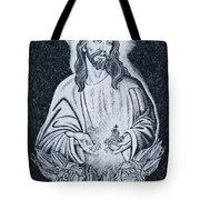 Religious Icons In Spanish Cemetery Tote Bag