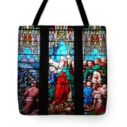 Religious Stained Glass Windows Tote Bag