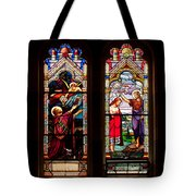 Religious Stained Windows Tote Bag