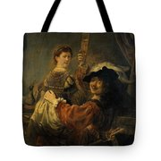 Rembrandt And Saskia In The Parable Of The Prodigal Son Tote Bag