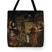 Rembrandt In His Studio Tote Bag