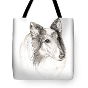 Remembering Maggie - A Tribute To A Collie Tote Bag