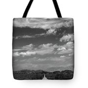Remote Desert Road To Mountains Tote Bag