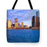 Renaissance Center, Detroit, Sunrise Tote Bag