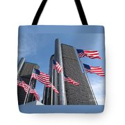 Rencen And Flags Tote Bag