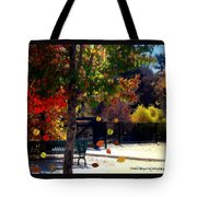 Reno Riverwalk In The Fall Tote Bag