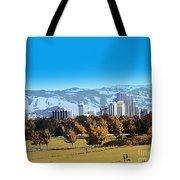 Reno Skyline From Rancho San Rafael Tote Bag