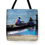 Repairing The Net At Lake Victoria Tote Bag