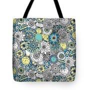 Repeat Print - Floral Burst Tote Bag