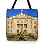 Replica Of Liberty Bell In Front Tote Bag