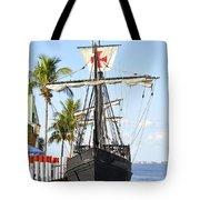 Replica Of The Christopher Columbus Ship Pinta Tote Bag
