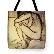 Replica Of Vincent's Drawing - Sorrow Tote Bag