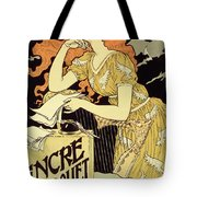 Reproduction Of A Poster Advertising 'marquet Ink' Tote Bag by Eugene Grasset