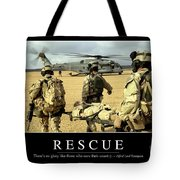 Rescue Inspirational Quote Tote Bag by Stocktrek Images