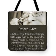 Rescue Love Adoption Tote Bag