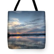 Reservoir Sunset Tote Bag