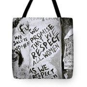 Respect Women Graffiti Tote Bag