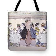 Restaurant Car In The Paris To Nice Train Tote Bag