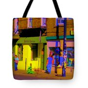 Restaurant El Pintxo Rue Roy Plateau Montreal Basque Food Spanish Cafe City Scene Art Carole Spandau Tote Bag