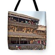Restaurant In Bhaktapur Durbar Square In Bhaktapur-nepal Tote Bag