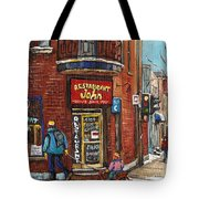 Restaurant John Tote Bag