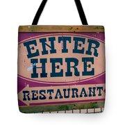 Restaurant Sign Color Tote Bag