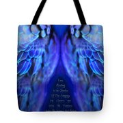 Psalm 91 Wings Tote Bag