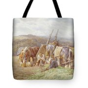 Resting In The Field  Tote Bag by Charles James Adams