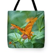 Resting Orange Butterfly Tote Bag